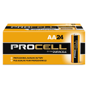 24 AA Duracell Procell alkaline batteries PC1500