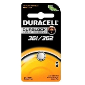 Duracell 361 362 1.5V Silver Oxide Button Cell Battery