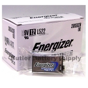 12 Energizer 9V (9 Volt) Ultimate Lithium batteries (L522, 1604LC)