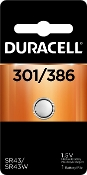 Duracell 301 386 1.5V Silver Oxide Button Cell Battery