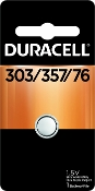 Duracell 303 357 1.5V Silver Oxide Button Cell Battery