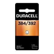 Duracell 384 392 1.5V Silver Oxide Button Cell Battery