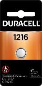 Duracell 1216 3V Lithium Coin Cell Battery