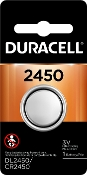 Duracell 2450 3V Lithium Coin Cell Battery