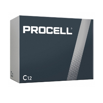 12 C Duracell Procell alkaline batteries PC1400