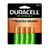 Duracell Rechargeable AA NiMH Batteries 4-pack DX1500B4N