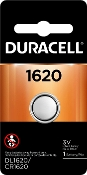 Duracell 1620 3V Lithium Coin Cell Battery