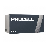 12 9V pack Duracell Procell alkaline batteries PC1604